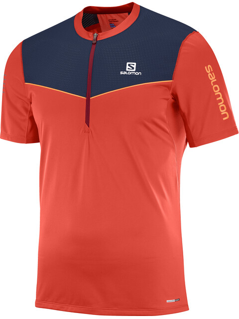 Salomon Fast Wing Half Zip SS Tee Men Fiery Red